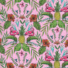 Michael Miller FLOCK TO THE OASIS Tropical Hawaiian Flamingo Fabric - Pink