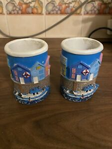 2 Boat Toothbrush Holders