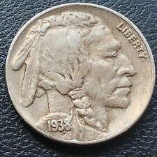 1938 D Buffalo Nickel 5c Better Grade #27272