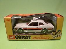 CORGI TOYS 402 FORD CORTINA POLICE CAR - 1:43 - GOOD CONDITION IN BOX