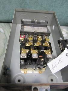 Westinghouse Size 1 Starter Nema 1 Enclosure Reset Button 120V Coil A200M1CACM