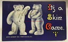 Roosevelt Teddy Bear Era 1907 Embossed PC It's A Skin Game Antique Postcard