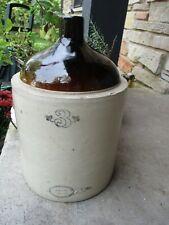 Vintage 3 Gallon WESTERN Stoneware Whiskey Moonshine Monmouth Illinois Jug