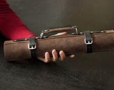 Leder Messer Roll, KNIFE ROLL, Koch Messer Roll, Koch Messer Tasche, Etui Messer