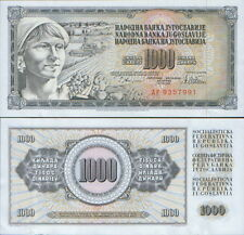 "Yugoslavia  1000 Dinars 1978.P-92a. AF series - ERROR ""GUVERNE"". UNC."