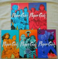 5 TPB LOT of PAPER GIRLS 1-5 (collects issues #1-25 - solid!) IMAGE COMICS 2015
