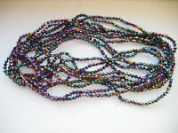 Joblot 10 strings (1200 beads) 4mm Multi colour Bicone Crystal beads new