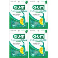 4 Pack - GUM Eez-Thru Flossers Mint 90 Each