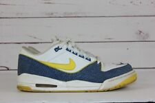 2007 Nike Air Assault Low Men's Size 11 White Blue Yellow 316421-171
