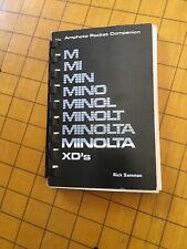 MINOLTA XD's Pocket Handbook