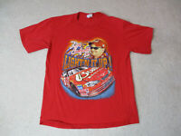 Dale Earnhardt Jr Shirt Adult Large Red Nascar Racing Racer Racecar Double Sided