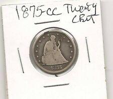 1875-CC Twenty Cent Piece : Fine