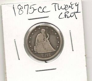 1875-CC Twenty Cent Piece : Fine