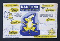 BUVARD Radécime tue souris et rat rongeur rodenticide Rodentizid blotter Loscher