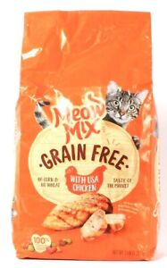 1 Bag Meow Mix 3 Lb Grain Free With USA Chicken Dry Cat Food BB 5/18/2022