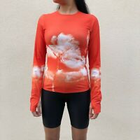 Orlebar Brown Orange Top Palm Tree Womens Small Sports Style