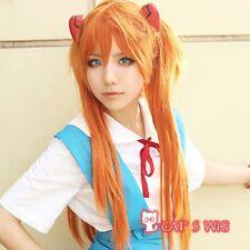 Neon Genesis Evangelion NERV orange Asuka cosplay wig