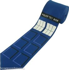 Doctor Dr Who Tardis Police Box Window Licensed Necktie Adult Length New in Pkg