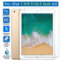 "9H+ Tempered Glass Screen Protector For iPad 2 3 4 5 6 6t Air Pro 9.7"" 10.5"" 11"""