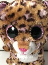 "Ty Beanie Boo 6"" Patches Leopard Cat Brown Pink Plush Stuffed Animal"