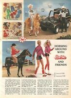 VINTAGE 1981 WESTERN BARBIE KEN SINDY DREAM VETTE CATALOG PRINT AD CLIPPING