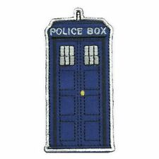 Doctor Who TARDIS Iron On Patch Blue Police Phone Call Box Badge/Applique/Transf