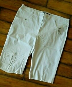 Jamie Sadock Jamie Sadock Skinnyliscious Knee Capri pants Antigua WHITE Size 18