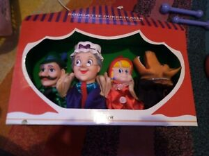 Brand New In Box Hand Puppet Theatre Little Red Riding Hood X 4