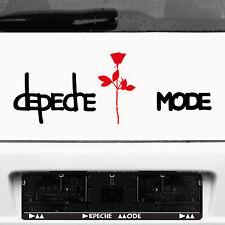 Depeche Mode Exciter Schriftzug schw + Rose rot Auto Tattoo Dekofolie Aufkleber