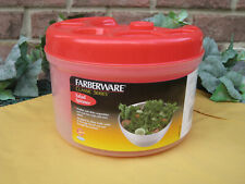 New listing Farberware Salad Spinner Classic Series Red Clear
