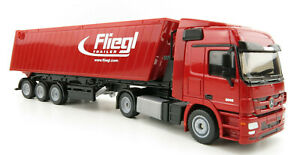 Siku 3537 Mercedes-Benz Actros Transporter with Fliegl tipping trailer 1:50