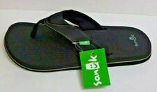 Sanuk Size 10 Black Sandals New Mens Shoes