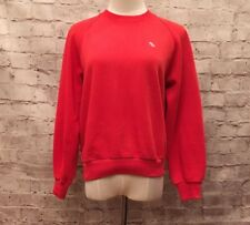 "AIKO INTERNATIONAL VINTAGE RED SWEATSHIRT TENNIS Women's M/L 10-12 (Chest 38"")"