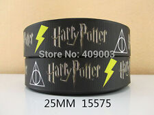 "Black Harry Potter Ribbon 1"" Wide NEW UK SELLER FREE P&P"