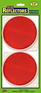 Hy-Ko Products CDRF-3R Nail On Reflector 3 1/4 Diameter Red 2 Piece 1 Set