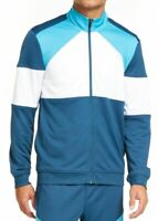 Ideology Mens Track Jacket Blue Size 2XL Colorblock Full-Zip Angled $50 #042