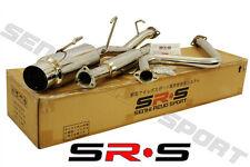 SRS Full T-304 Stainless Steel CATBACK EXHAUST 92-96 Honda Prelude H22 SI Jdm