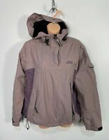 WOMENS TIMBERLAND MOUNTAIN ATHLECTIC SIZE MEDIUM PURPLE PULLOVER HOODED RAINCOAT