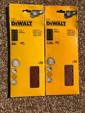 Dewalt Sanding Pads 115x228mm Mixed 80g//180g 20 Sheets DT8531 DT8533