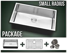 """30"""" Single Bowl Undermount Combo Stainless Steel Kitchen Sink Small Radius"""