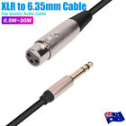 XLR Female To 6.35mm 1/4 '' Male Microphone Stereo Audio Cable TRS Jack Lead/Mic