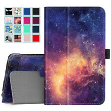For Onn 7 inch Tablet Slim Case Vegan Leather Folio Stand Cover w Pencil Holder