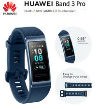NEW Huawei Band 3 Pro Wristband AMOLED COLOR Touchscreen Heart Rate GPS NFC blue