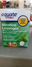 Equate Nicotine Lozenges Mint Flavor 4 Mg 108 Count