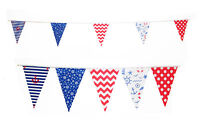 Nautical Beach Bunting 10m 20 Flags Cottage Navy Boat Pirate Ocean Sea Anchors