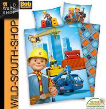 Bob der Baumeister Bettwäsche 40x60 100x135cm 100% Baumwolle NEU Herding
