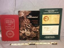 LOT OF 3 A GUILD BOOK OF US COINS, THE NUMISMATIST, US & FOREIGN COVERS & POSTAL