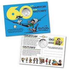 Coincard 5 euros BELGIQUE 2017 - 60ème anniversaire BD Gaston Lagaffe - 7 500ex