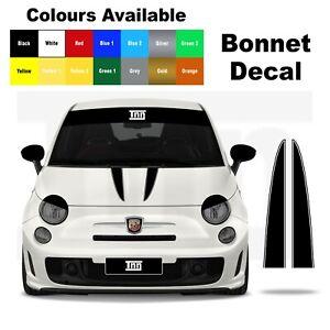 Abarth Fiat 500 Punto 595 Bonnet Stripe Decal Graphic Sticker Badge Livery