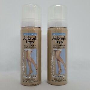 2 Sally Hansen Airbrush Legs Fairest Glow 1.5 oz Spray On Leg Makeup TRAVEL SIZE